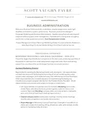 business admin resume business administration resume