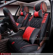 new 3d sport car seat cover general cushion senior leather car covers car styling for bmw audi honda crv