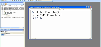 How To Enter Formulas In Excel With A Macro Microsoft Office