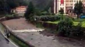 Rize'de sel böyle geldi - Son Dakika Flaş Haberler