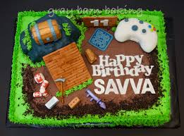 Fortnite Gamer Cake Gray Barn Baking