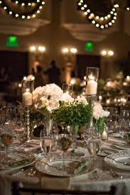 candle wedding centerpieces beautiful reception décor s round table with white roses and candles of candle