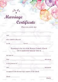 Watercolor Wedding Certificate Design Template In Psd Word