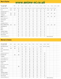 vibram size chart vibram 5 fingers size chart anime ni co uk