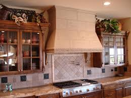 Kitchen Hoods Design Ideas For Electric Stove Model Design For Semi  Contemporary Style Stove Hoods Bright Brown Colored Design Ideas