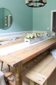 diy farmhouse table for less than 100 the turquoise home cool easy diy dining room table