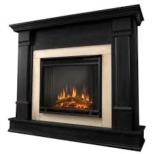 all in one electric fireplace systems - 48 Silverton black electric  fireplace