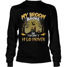 Hi Lo Driver Broom Halloween Youth Shirt