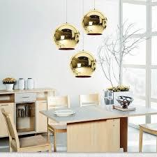 ihambing ang pinakabagong modern classic fashion tom dixon glass gold mirror shade ball lights 25cm e27 led pendant lamps for dining rooms pinahusay na