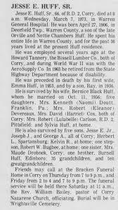 Obituary for JESSE E. HUFF, 1906-1973 (Aged 66) - Newspapers.com