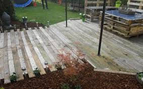 wooden pallet deck from pinterest wood stamped concrete patio36 patio