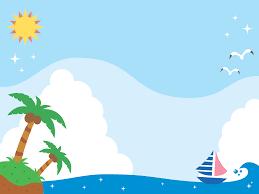 フリーイラスト 南の島とヨット夏の海でアハ体験 Gahag 著作権