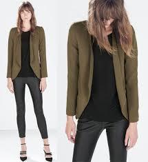 zara woman combined office. Zara Winter Jackets Collection 2014 2015 Woman: Flowy Blazer Woman Combined Office