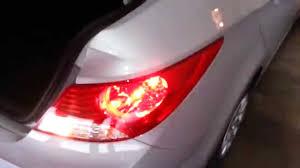 2013 Hyundai Accent Brake Light 2013 Hyundai Accent Testing Tail Lights After Changing Bulbs Brake Turn Signal Reverse