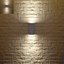 contemporary shinings two sides above under mini rectangulars edition exterior wall lighting fixtures best decoration fabulous