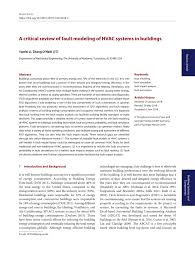 fault modeling of hvac systems in buildings