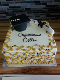 Black And Gold Graduation Cake Graduation Cakes Graduation Cake