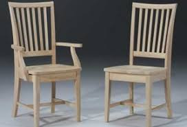 amish mission style unfinished chairs