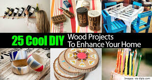 cool diy wood projects enhance your home