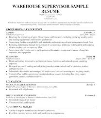 sample resume supervisor position resume template for supervisor position operations manager resume