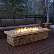 real flame sedona rectangle propane gas fire table with optional tank cover outdoor fireplacesoutdoor fireplace patiofireplace
