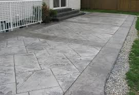 gray stamped concrete patio images