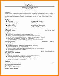 Meeting Planner Resume For Study Sample Event Coordinator Samples