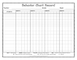 Behavior Chart Template For Home Monthly Behavior Chart Template For Teachers Iamfree Club
