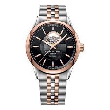 raymond weil mens watches beaverbrooks the jewellers raymond weil lancer open balance wheel automatic men s watch