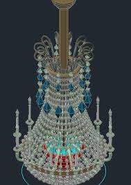 chandelier glass candlesticks 3d dwg model for autocad