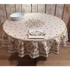 round tablecloth coated moustiers blues 70 inches