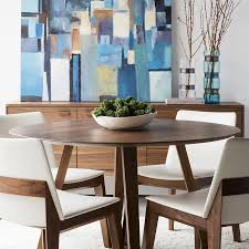 shop moe's home collection godenza wood round dining table at