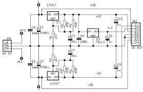 six channel mixer and amplifier Audio Mixer Circuit Diagram circuit diagram the power supply must produce the following voltages