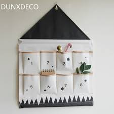 home office wall storage. Modren Wall DUNXDECO Wall Storage Linen Hanging Pocket Organizer Home Office  Nordic House Shape Pink Black Kid Inside L