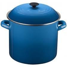 le creuset soup pot. Le Creuset Stockpot In Marseille Blue, 20-Quart Size: Model N4100-3059 Soup Pot E
