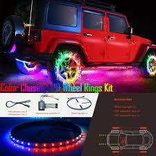 Wheel Light Kit Hot Item New App Controlled Color Chasing Led Wheel Ring Lights Kits Car Lights