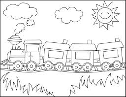 Small Picture Train Coloring Pages for Free download
