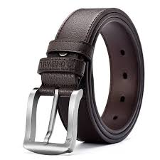 home men trinity style leather strap belt