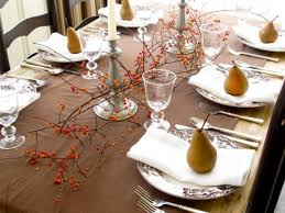 simple elegant table settings Take out the special plates and use a pear as  a decor