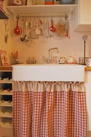 image vintage kitchen craft ideas. Little Emma English Home: Sink Skirt (plaid+strip). Red KitchenKitchen SinksVintage IdeasKitchen Image Vintage Kitchen Craft Ideas