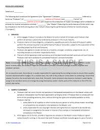 music management contract producer contract for working with a signed artist