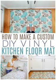 how to make a custom vinyl floor mat