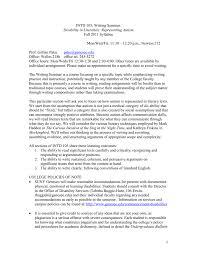 Intd 105 Writing Seminar Geneseo Wiki