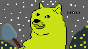 You can also use the official doge wallet to store your coins. Pixilart Doge Miner By Anonymous
