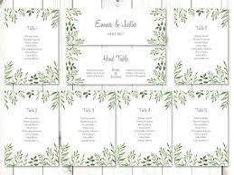 Printable Wedding Seating Templates Table Chart Round