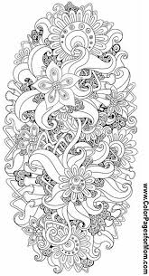 Small Picture Flower Abstract Doodle Zentangle ZenDoodle Paisley Coloring pages