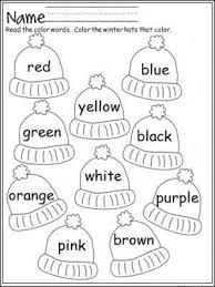 All of their letters are scrambled. Free Mitten Color Word Practice Great For Pre K And Kindergarten During The Winter Kindergarten Colors Preschool Colors Winter Kindergarten