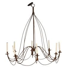 large rustic french provincial eight light chandelier for
