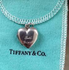 tiffany co silver engraved heart locket