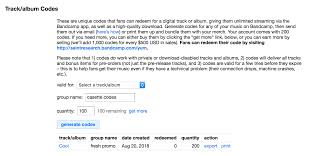 Star Chart Redeem Code Track Album Code Tutorial Bandcamp Help Center